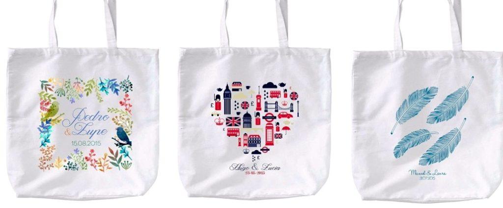 Ejemplos de bolsas de tela personalizadas