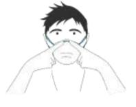 Pellizcar la pinza nasal