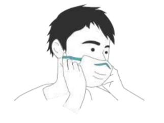 Introducir y apretar la pinza nasal