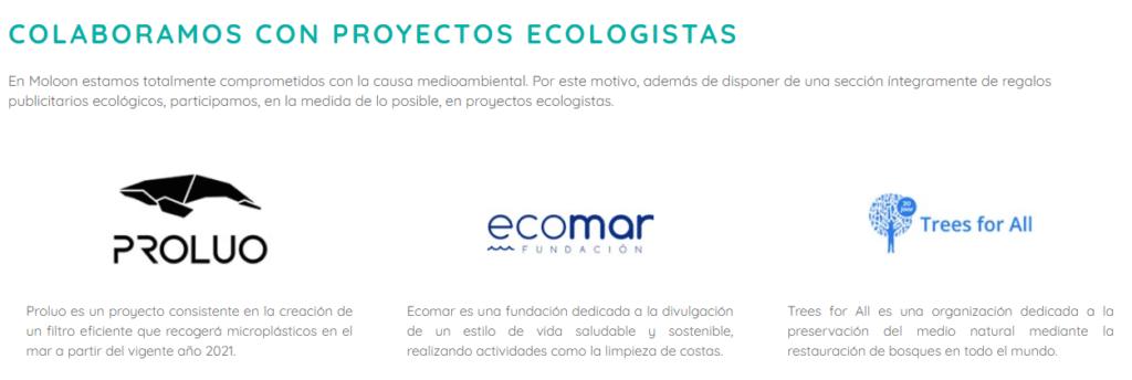 Colaboraciones con entidades ecologistas para realizar productos publicitarios