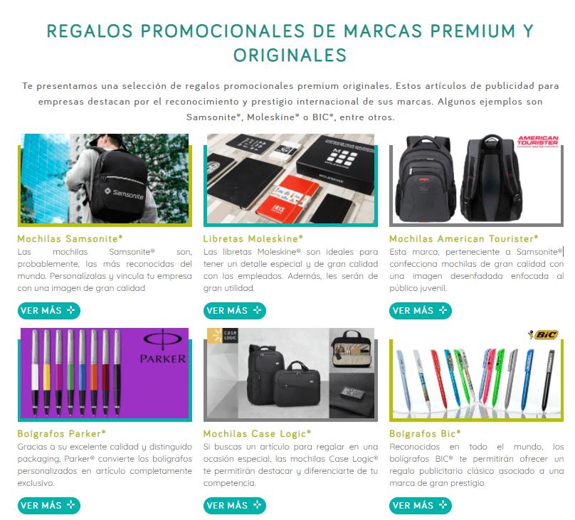 Marcas premium de productos personalizados