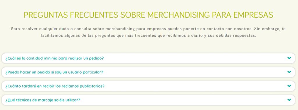 Preguntas frecuentes sobre merchandising para empresas